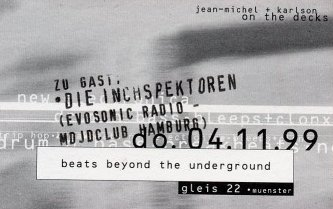 Beats Beyond The Underground im Gleis 22 in Münster